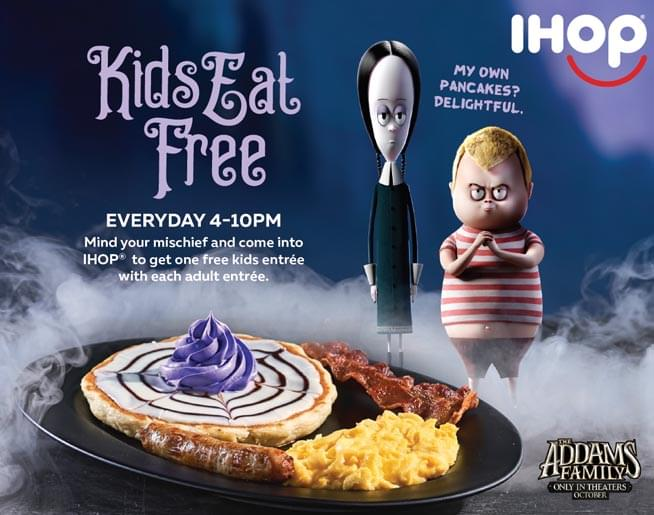 Celebrate America's Spookiest Family, with Warm 98.5 and IHOP!