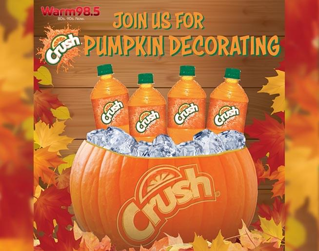 Join Orange Crush and Warm 98.5 for Pumpkin Decorating