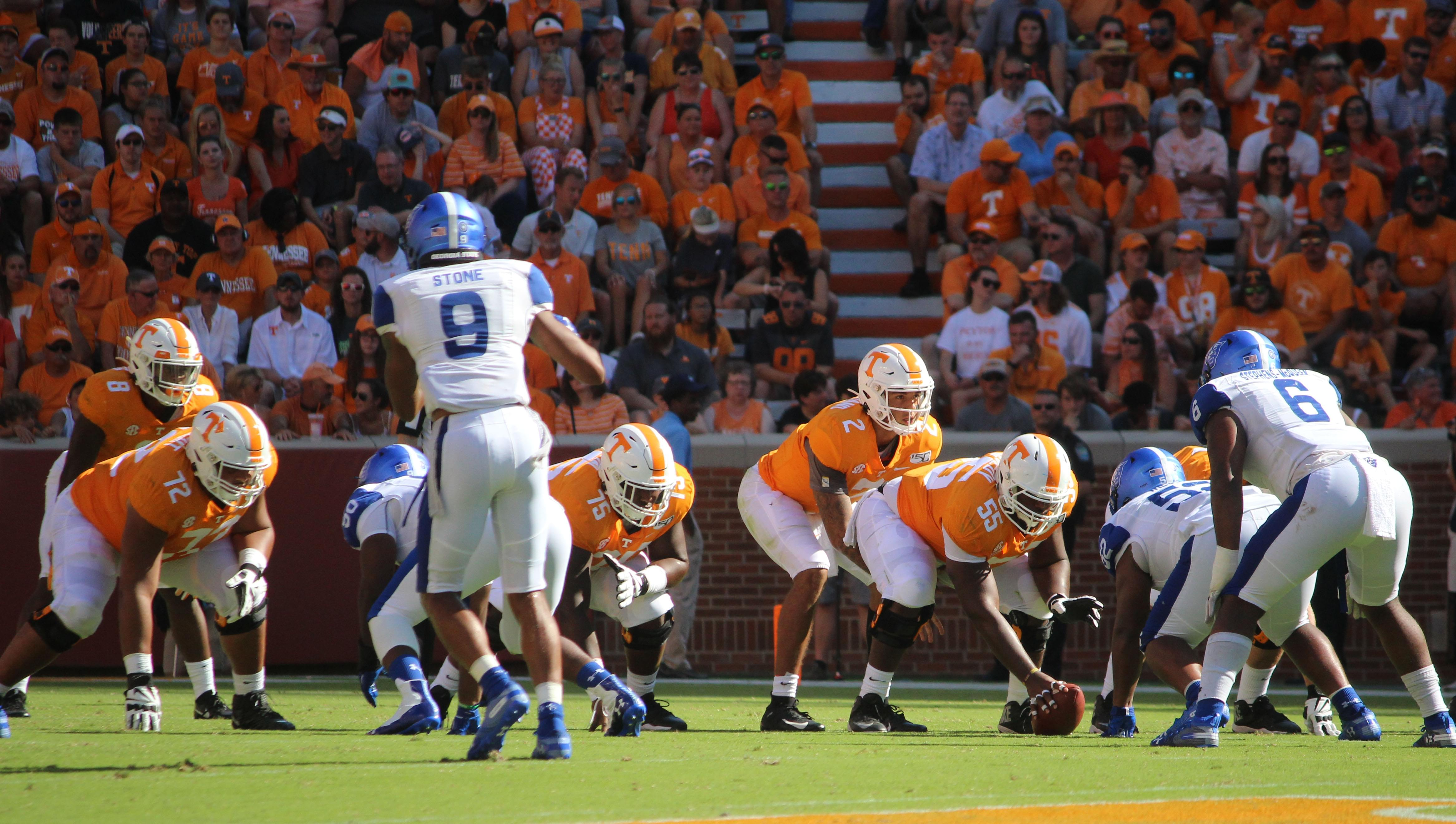 SEC score predictions including Vols/BYU, LSU/Texas