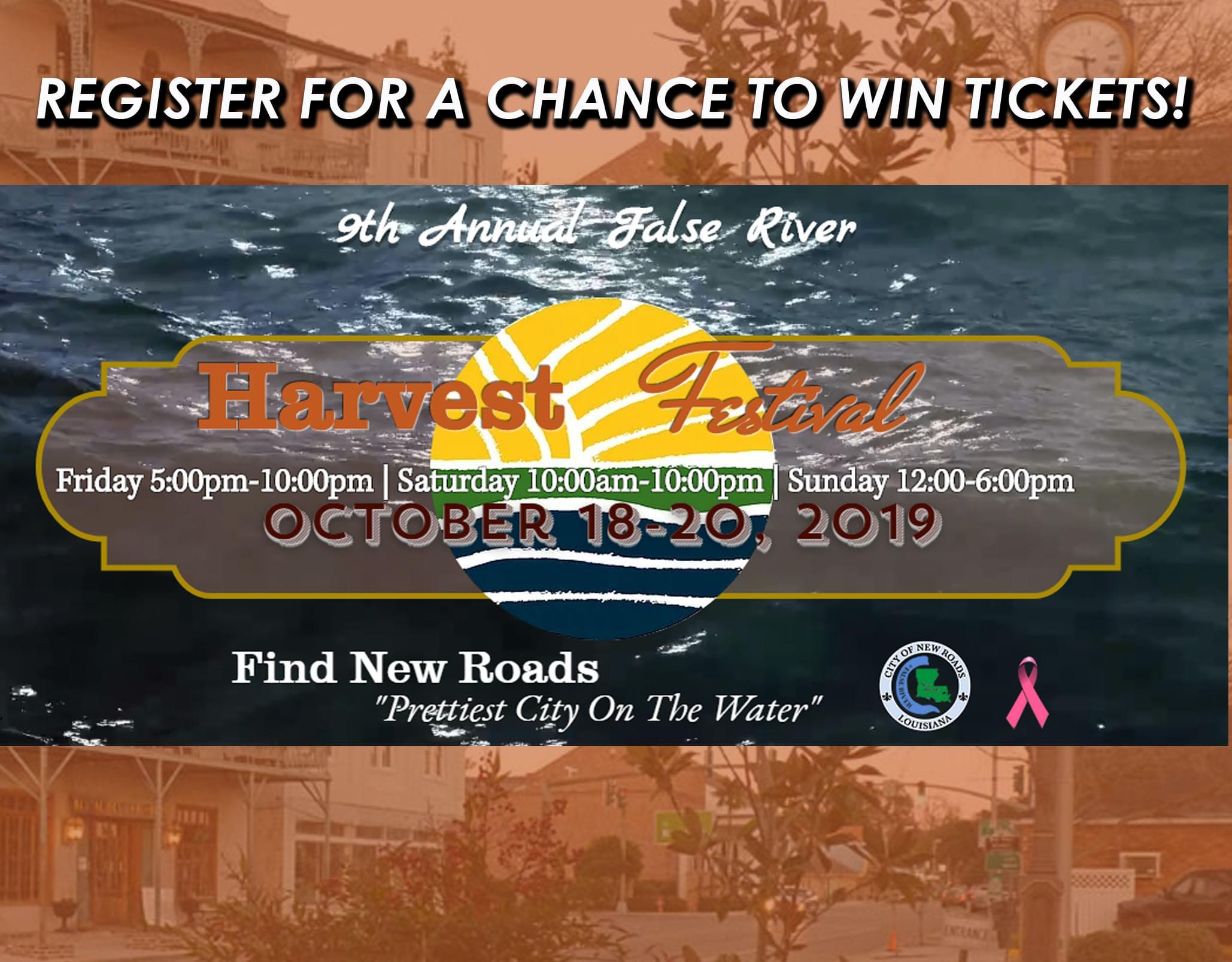 Register to Win False River Harvest Fest Tickets