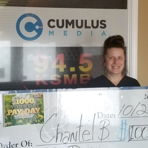 Chantell Bertrand wins big with the $1,000 Workday Payday!