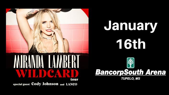 Miranda Lambert BCS Arena January 16th