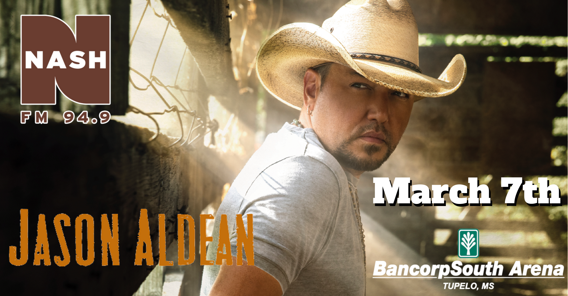 Jason Aldean- March 7th at the BancorpSouth Arena