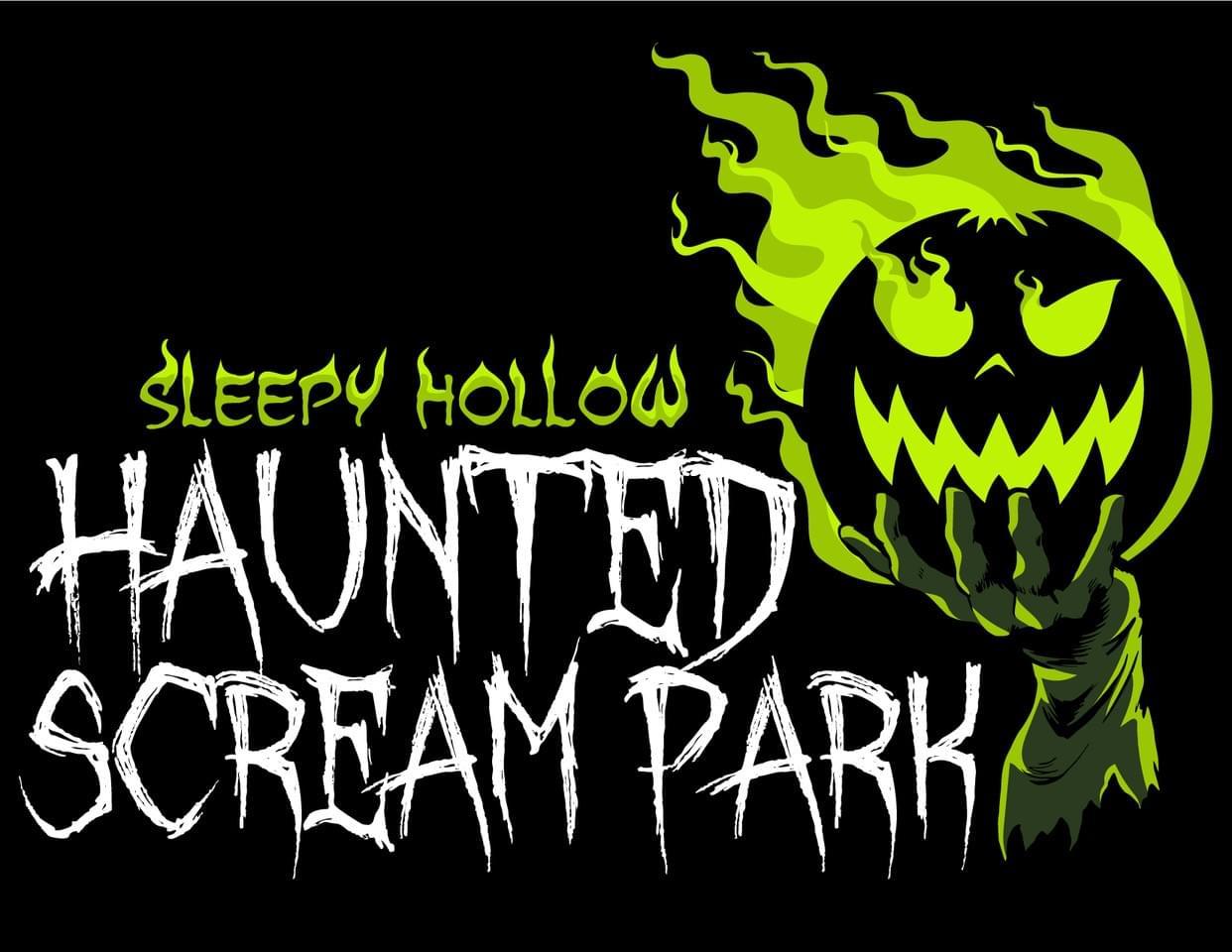 Scream park logo black back ground
