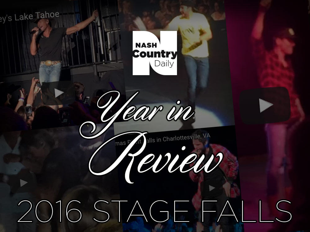 Year in Review: Country's Top 5 Stage Falls of 2016