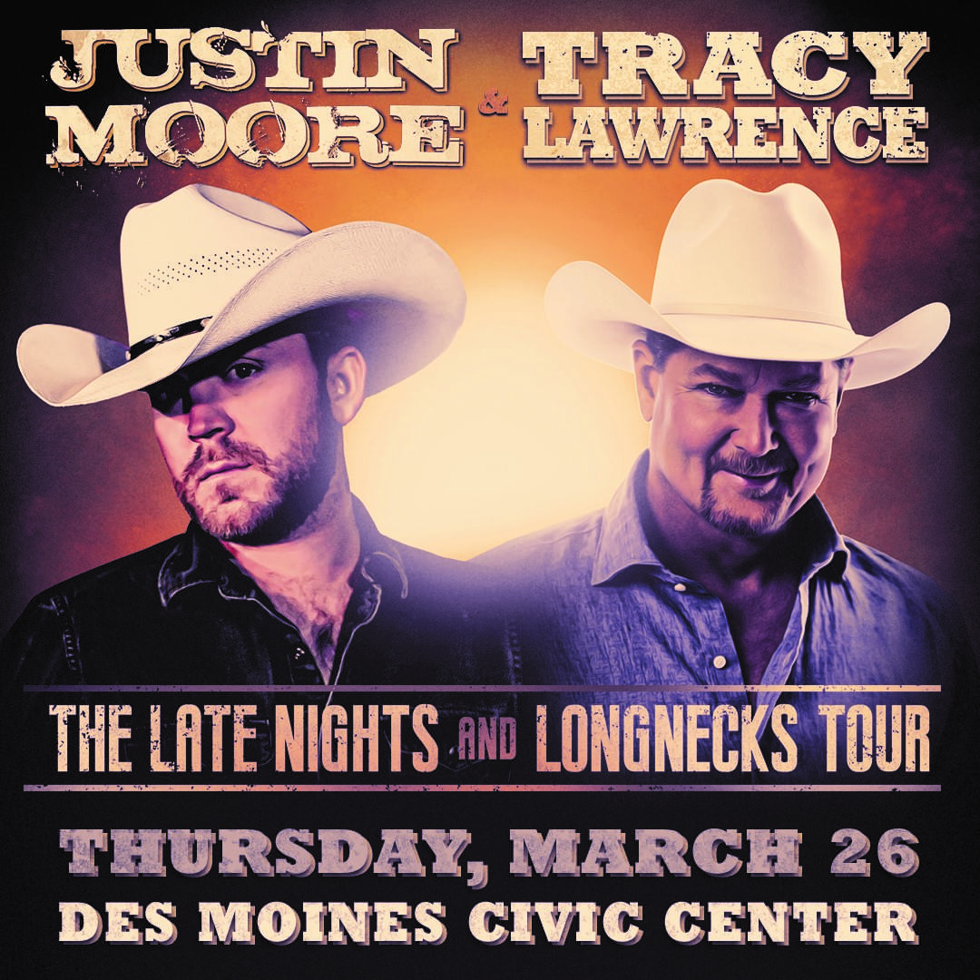 Justin Moore at the Des Moines Civic Center