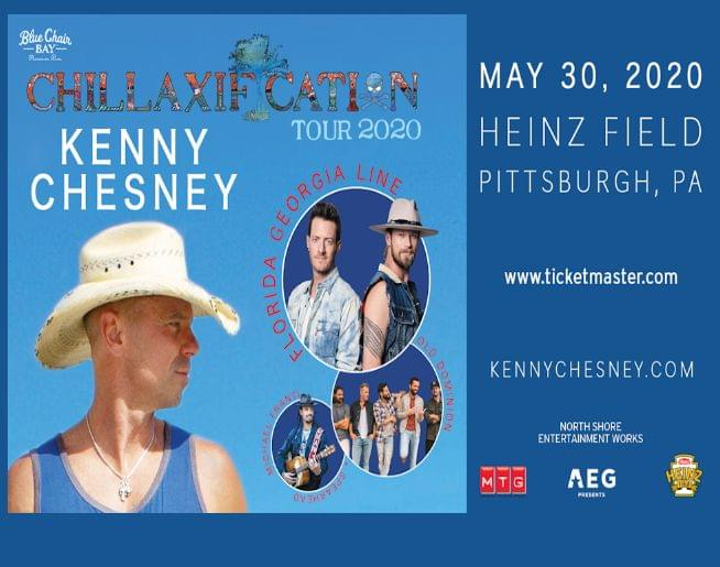 KENNY CHESNEY –at HEINZ FIELD – MAY 30, 2020!