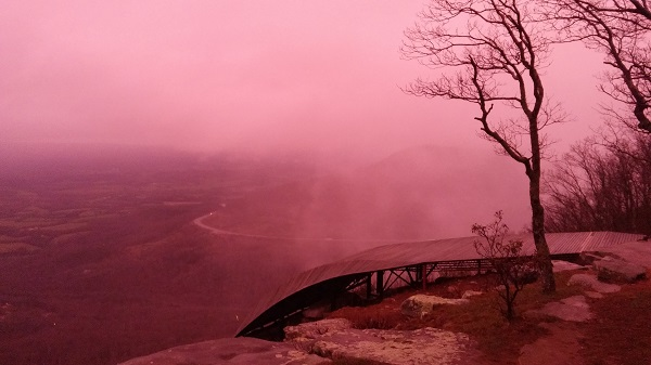 Did you miss that pink sky?