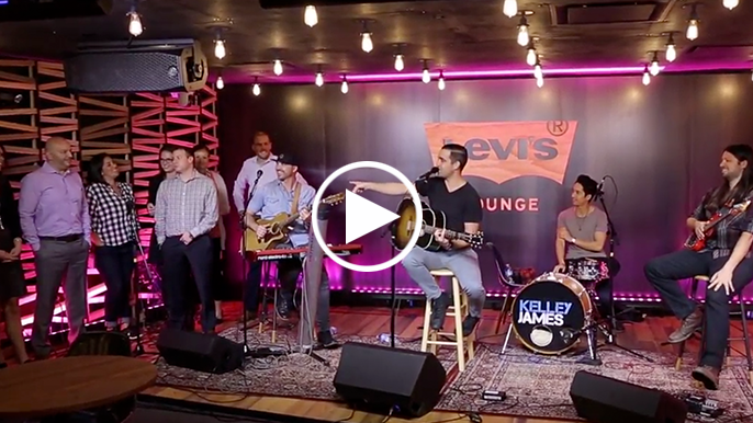 Kelley James sings and freestyle raps in Levi's® Lounge