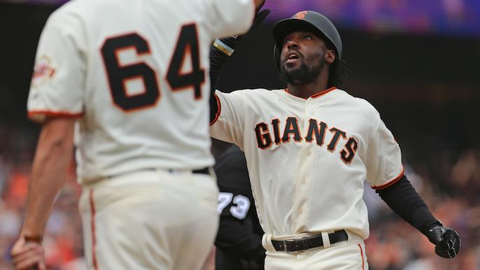 Hanson, Hundley homer as Giants lose doubleheader opener