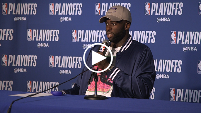 Draymond credits both teams for complaining less to officials in Game 2
