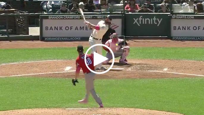 Brandon Belt crushes two-run pinch-hit homer to tie game