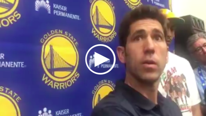 Bob Myers discusses potential to trade for, buy picks