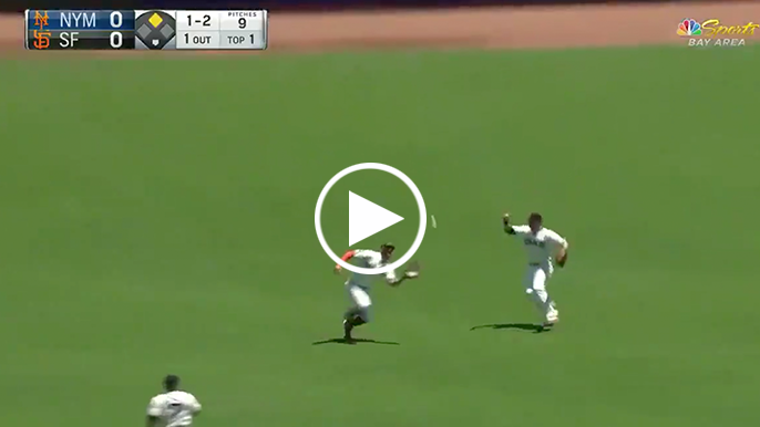 Kevin Pillar converts double play with perfect throw to third base
