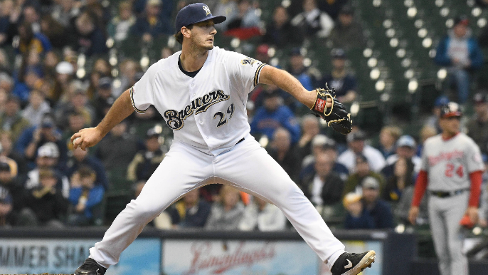 Giants claim right-handed pitcher off waivers from Milwaukee