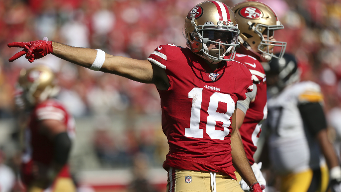 Kyle Shanahan on KNBR: Dante Pettis been dealing with upper body injury since training camp