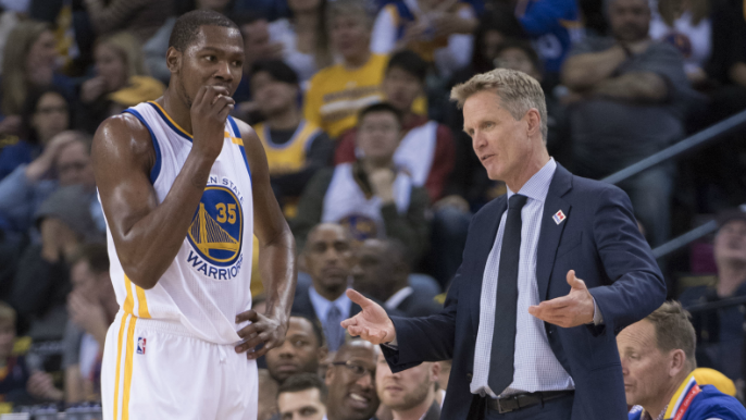 Steve Kerr explains why he agrees with Kevin Durant's criticism of his offense