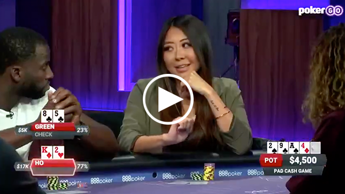 Draymond Green tries, fails to bluff a professional poker player