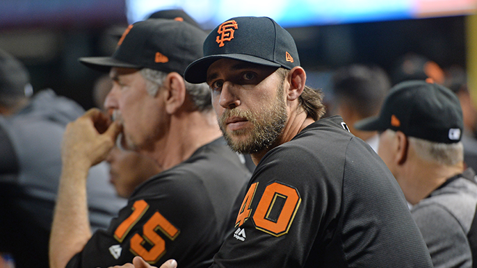 Bochy hints at one more moment for Bumgarner, who's excited for free agency