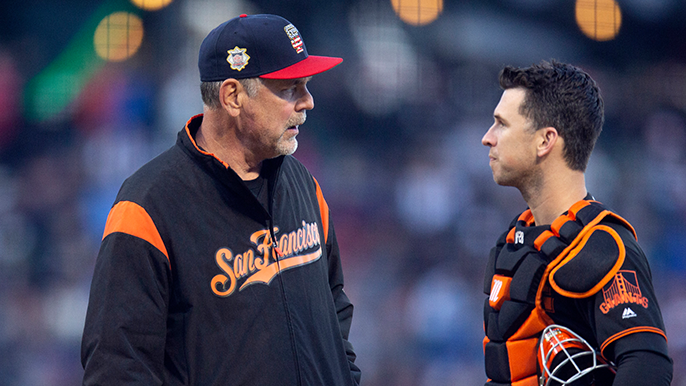 Three Giants icons salute 'fiery, cranky' and beloved Bruce Bochy for last time