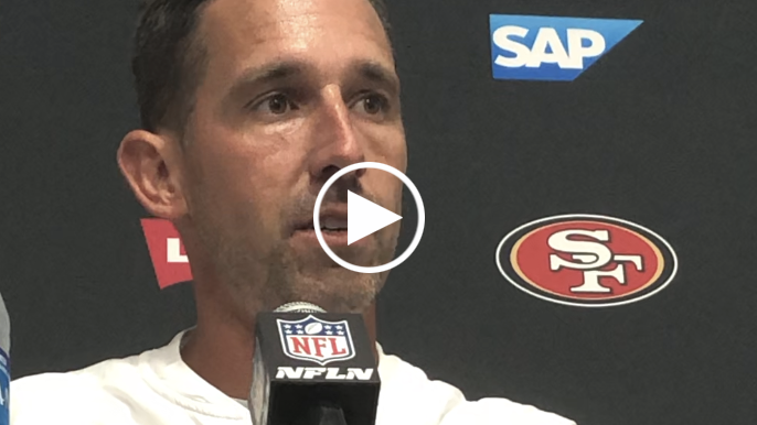 Shanahan explains why Garoppolo's end zone interception wasn't his fault