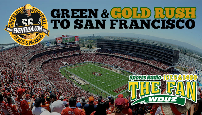 The Fans Green and GOLD Rush to San Francisco