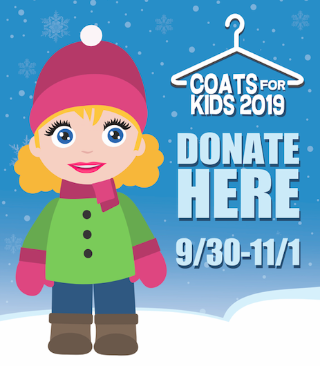 Coats For Kids with our Special Mall Collection Day this Saturday!