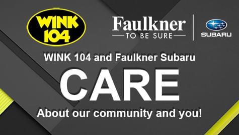 WINK 104 and Faulkner Subaru CARE!