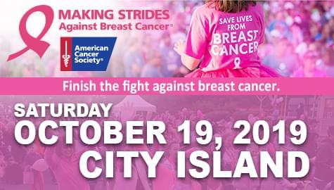 Making Strides Against Breast Cancer • October 19