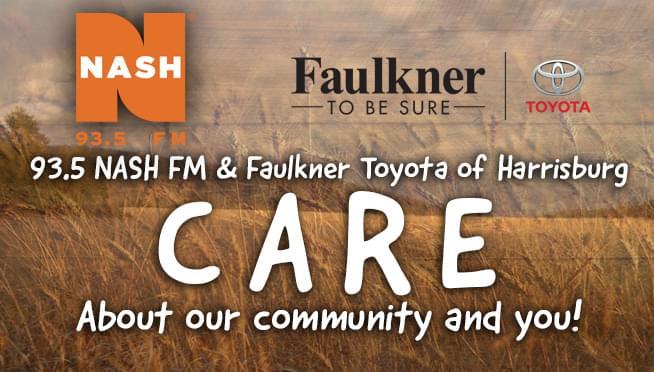 93.5 NASH FM & Faulkner Toyota of Harrisburg CARE