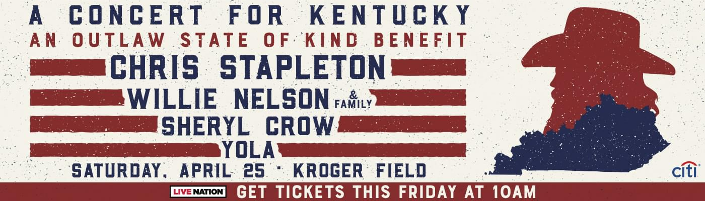 Chris Stapleton: Concert for Kentucky: An Outlaw State of Kind Hometown Fund Benefit