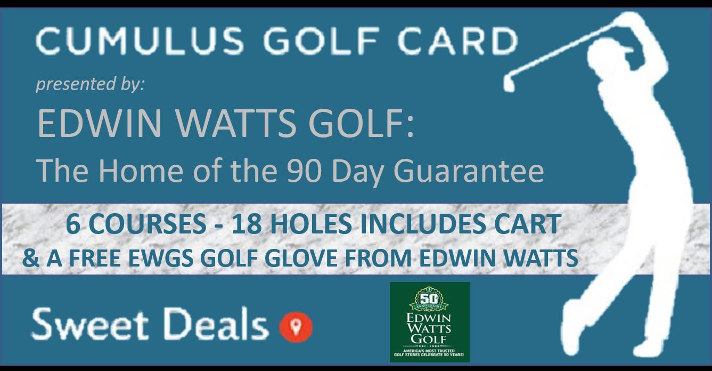 2019 Fall Edwin Watts Golf Cumulus Media Golf Card!