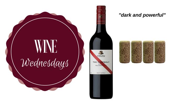 Wine Wednesday: 2012 Footbolt Shiraz