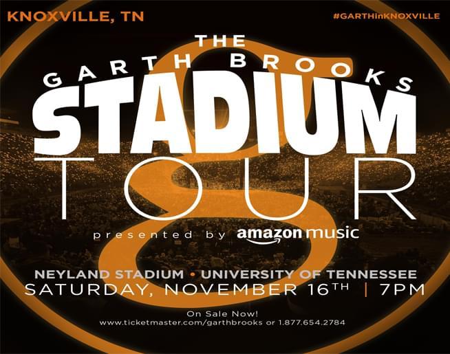 Garth Brooks – Neyland Stadium in Knoxville