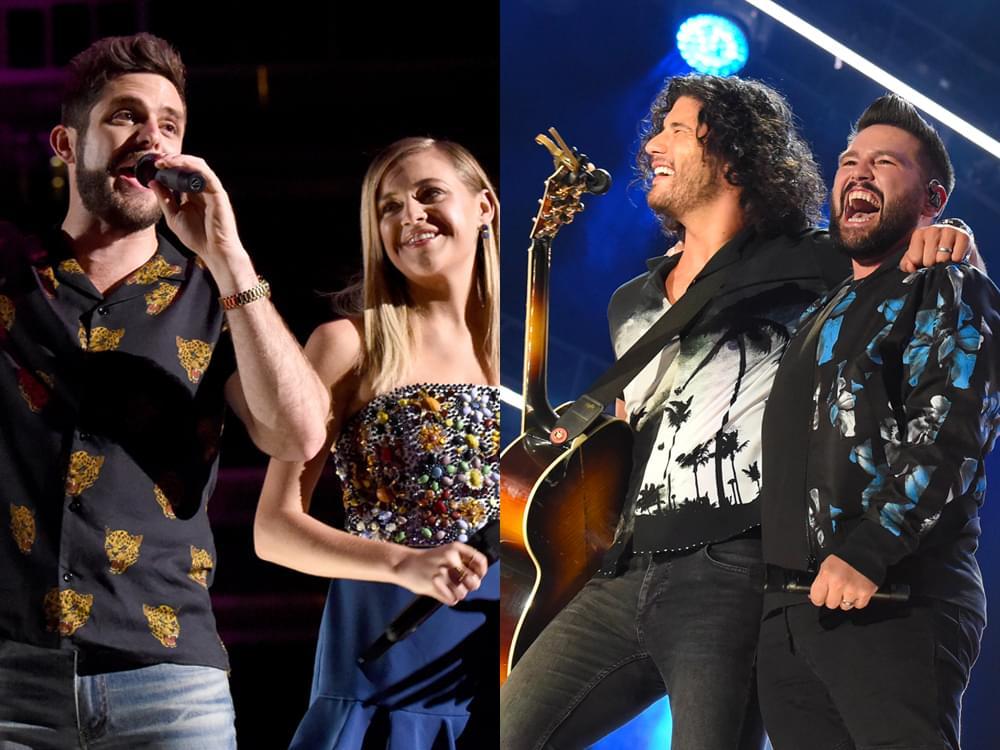 Dan + Shay, Thomas Rhett, Kelsea Ballerini, Kacey Musgraves, Kane Brown & More Earn Multiple Teen Choice Awards Nominations