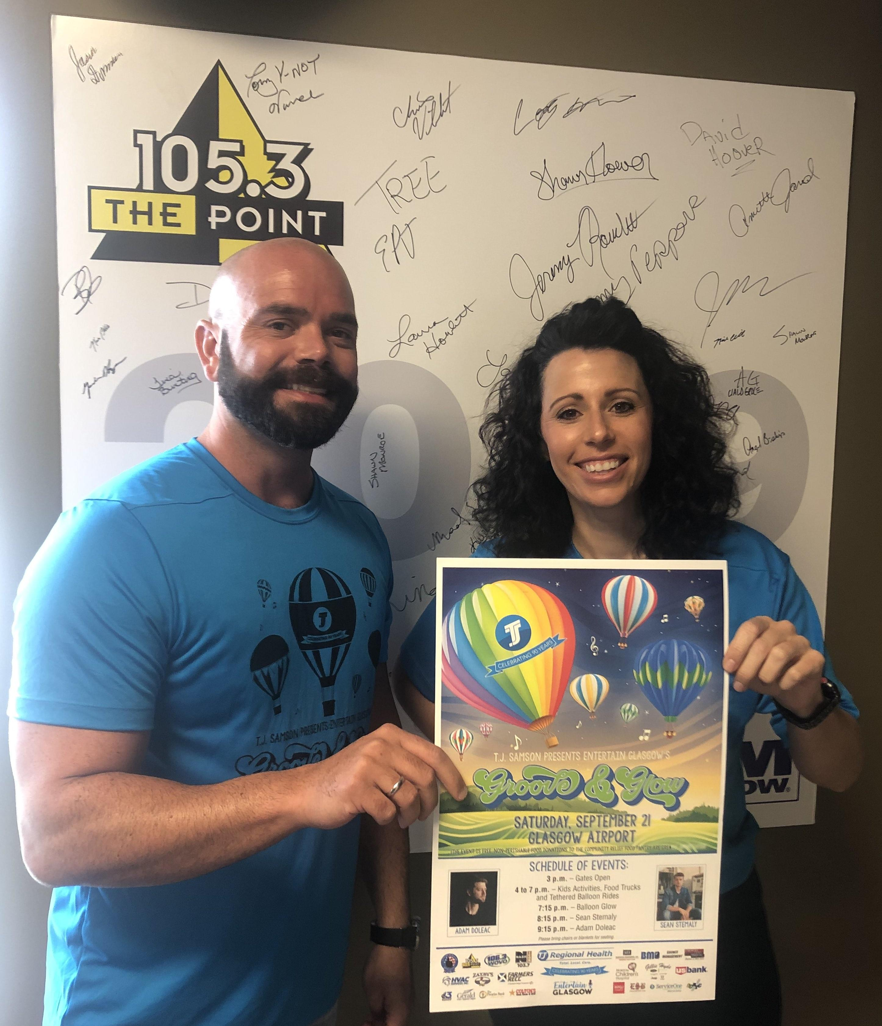 Katie and Brandon talk Groove & Glow this Saturday