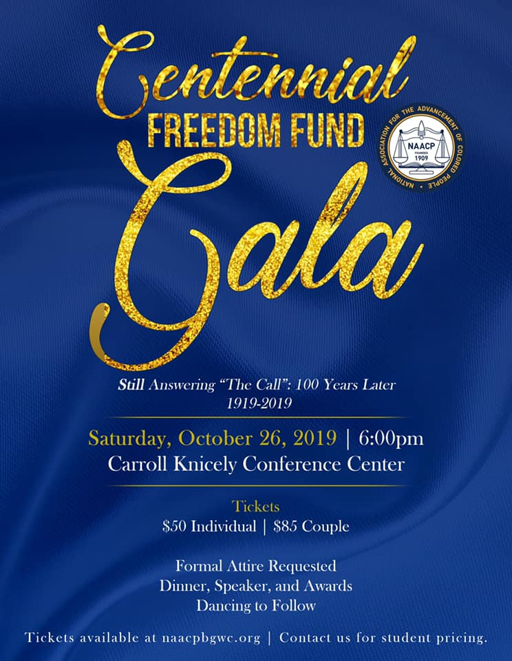 NAACP Centennial Gala celebration is coming up