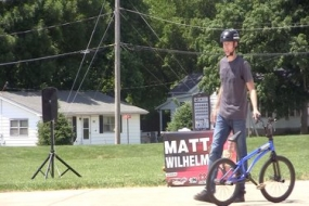 Mt. Zion youth learn perseverance from professional BMX'er (Video)