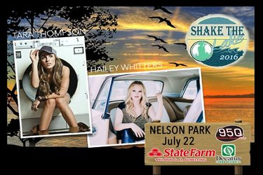 Shake The Lake – Tara Thompson & Hailey Whitters – July 22, 2016