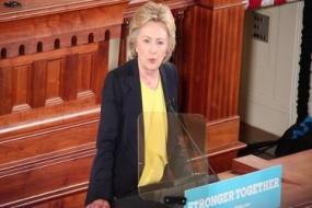 Secretary Clinton visits Springfield (Video)