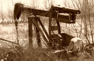 Abandoned oil well