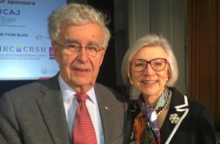 Retired SCC Justice Louis LeBel and retired SCC Chief Justice Beverley McLachlin