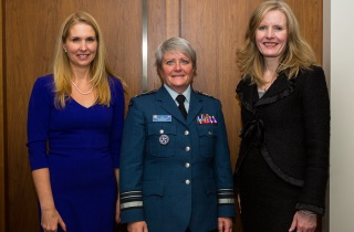 Bronwen Evans, True Patriot Love Foundation, Lt.-Gen. Christine Whitecross and Claire Kennedy, Bennett Jones LLP