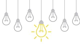 five lightbulbs