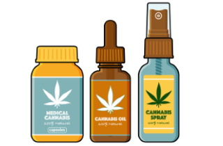 Cannabis bottles