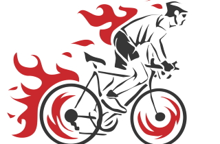 Flamingbicyclist