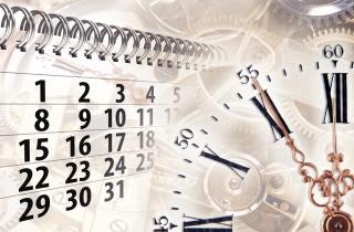 Clock with calendar