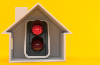 House with stoplight