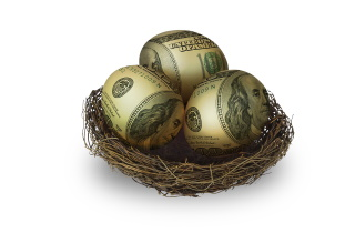 U.S. dollar nest eggs