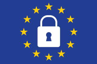 EU Flag with lock